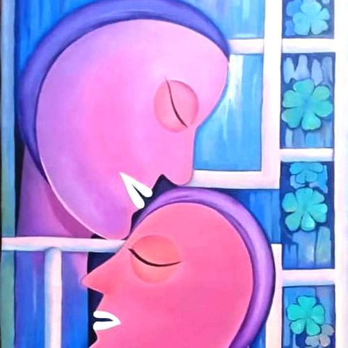 extreme love, 20 x 36 inch, a.b.  kaser,expressionist paintings,paintings for bedroom,love paintings,canvas,acrylic color,20x36inch,GAL06367209heart,family,caring,happiness,forever,happy,trust,passion,romance,sweet,kiss,love,hugs,warm,fun,kisses,joy,friendship,marriage,chocolate,husband,wife,forever,caring,couple,sweetheart