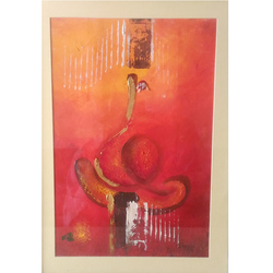 ganesha  in red 3, 8 x 11 inch, bhawna dhigra,religious paintings,paintings for living room,ganesha paintings,handmade paper,acrylic color,8x11inch,GAL028897231,vinayak,ekadanta,ganpati,lambodar,peace,devotion,religious,lord ganesha,lordganpati,ganpati bappa morya,ganesh chaturthi,ganesh murti,elephant god,religious,lord ganesh,ganesha,om,hindu god,shiv parvati, putra,bhakti,blessings,aashirwad,pooja,puja,aarti,ekdant,vakratunda,lambodara,bhalchandra,gajanan,vinayak,prathamesh,vignesh,heramba,siddhivinayak,mahaganpati,omkar,mushak,mouse,ladoo,modak