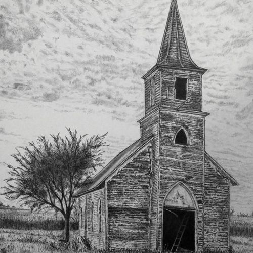 forgotten faith, 11 x 14 inch, biju puthiyapurail,fine art drawings,paintings for living room,drawings,conceptual drawings,paintings for office,paintings for hotel,ivory sheet,ball point pen,11x14inch,GAL04747237