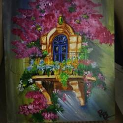 nature paint, 24 x 30 inch, ruchi baghel,nature paintings,paintings for dining room,canvas board,acrylic color,24x30inch,GAL029247278Nature,environment,Beauty,scenery,greenery