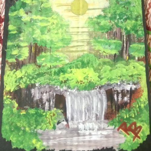 nature love, 10 x 15 inch, ruchi baghel,nature paintings,paintings for living room,hardboard,acrylic color,10x15inch,GAL029247281Nature,environment,Beauty,scenery,greenery