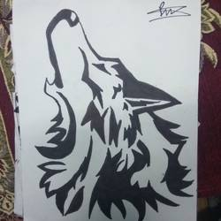 wolf, 11 x 14 inch, prajwal  sharma,drawings,portrait drawings,paintings for living room,drawing paper,ink color,11x14inch,GAL029197284