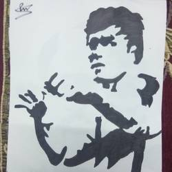 bruce lee, 11 x 14 inch, prajwal  sharma,drawings,portrait drawings,drawing paper,ink color,11x14inch,GAL029197285