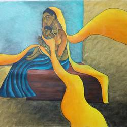 matrutva, 40 x 32 inch, vishal  tajanpure,religious paintings,paintings for bedroom,canvas,acrylic color,40x32inch,GAL0373731