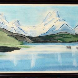charcoal landscape, 17 x 13 inch, noor khan,landscape paintings,paintings for living room,thick paper,charcoal,17x13inch,GAL027807322