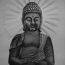 sri gautam buuddha, 10 x 15 inch, shivkumar  menon,art deco drawings,paintings for living room,drawing paper,graphite pencil,10x15inch,GAL09867327