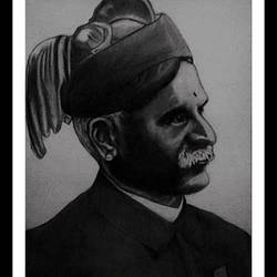 famous indian painter raja raavi varmaa, 10 x 14 inch, shivkumar  menon,portrait drawings,paintings for living room,drawing paper,graphite pencil,10x14inch,GAL09867328