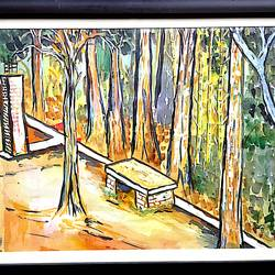 acrylic, 12 x 10 inch, abdul salam  mk,nature paintings,paintings for living room,paper,acrylic color,12x10inch,GAL029507372Nature,environment,Beauty,scenery,greenery