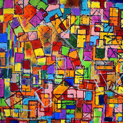 come, let's play !, 20 x 16 inch, aatmica ojha,abstract paintings,paintings for living room,paintings,canvas,acrylic color,20x16inch,GAL026897383