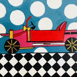 my ride, 16 x 12 inch, guneet kaur,modern art paintings,paintings for bedroom,canvas board,acrylic color,16x12inch,GAL029437393