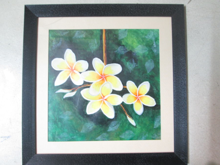 flower, 12 x 12 inch, arun gupta,modern art paintings,paintings for living room,canvas,pastel color,12x12inch,GAL029647402