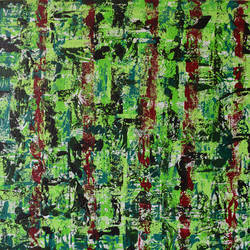 green bangalore, 20 x 18 inch, aatmica ojha,abstract paintings,paintings for living room,paintings,canvas,acrylic color,20x18inch,GAL026897406