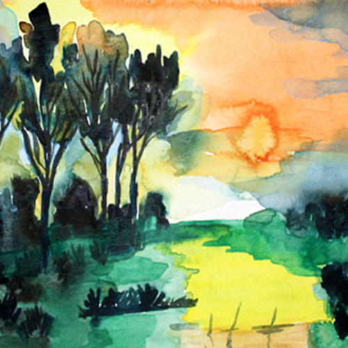 water color abstract, 16 x 12 inch, noor khan,paintings for living room,nature paintings,renaissance watercolor paper,watercolor,16x12inch,GAL027807417Nature,environment,Beauty,scenery,greenery