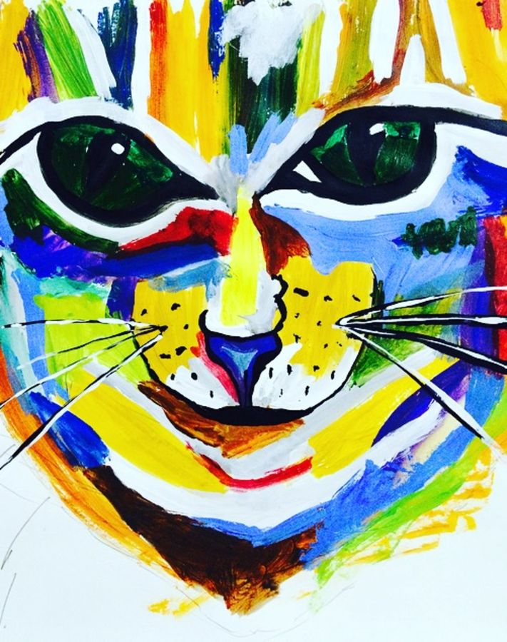 wild cat. , 5 x 5 inch, kartika bhati,wildlife paintings,paintings for bedroom,ivory sheet,acrylic color,5x5inch,GAL0384745