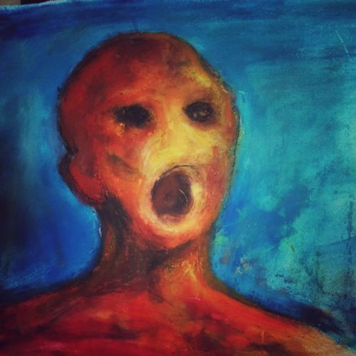 the anguished man reborn, 8 x 5 inch, naghma afreen,abstract paintings,paintings for living room,paper,watercolor,8x5inch,GAL030027456