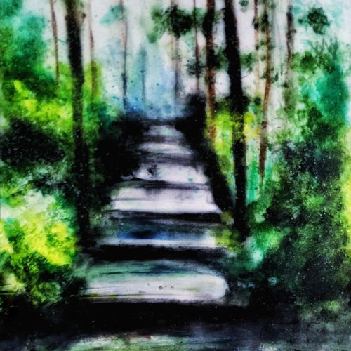 road untravelled , 8 x 12 inch, naghma afreen,landscape paintings,paintings for bedroom,paper,oil,8x12inch,GAL030027458
