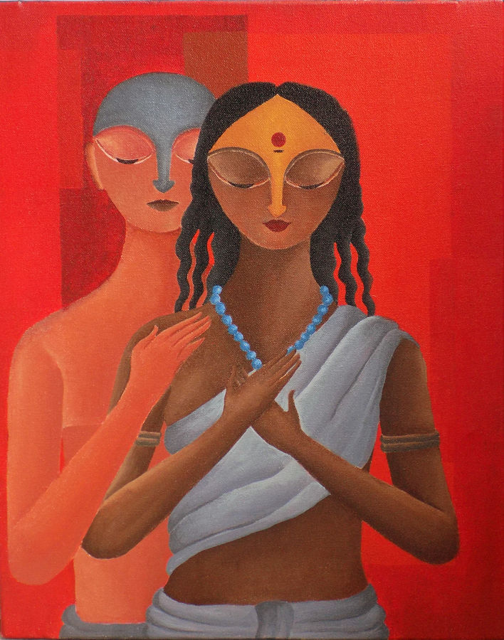 gift of love, 16 x 20 inch, debaditya sarkar,figurative paintings,paintings for bedroom,love paintings,canvas,acrylic color,16x20inch,GAL0396750heart,family,caring,happiness,forever,happy,trust,passion,romance,sweet,kiss,love,hugs,warm,fun,kisses,joy,friendship,marriage,chocolate,husband,wife,forever,caring,couple,sweetheart