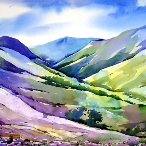 munnar , 21 x 15 inch, raji p,landscape paintings,paintings for living room,canson paper,watercolor,21x15inch,GAL05907503
