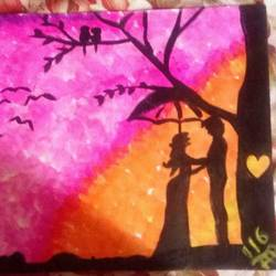love scene, 18 x 24 inch, me & my soul creators,paintings for bedroom,love paintings,canvas,acrylic color,18x24inch,GAL030457514heart,family,caring,happiness,forever,happy,trust,passion,romance,sweet,kiss,love,hugs,warm,fun,kisses,joy,friendship,marriage,chocolate,husband,wife,forever,caring,couple,sweetheart