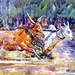 spirit, 21 x 15 inch, raji p,landscape paintings,paintings for living room,canson paper,watercolor,21x15inch,GAL05907520