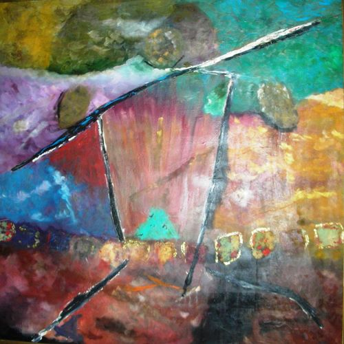 beyond borders, 48 x 48 inch, ritu george,abstract paintings,paintings for living room,canvas,oil,48x48inch,GAL030537524