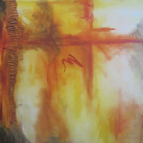 fire & ice, 10 x 12 inch, ritu george,abstract paintings,paintings for dining room,hardboard,oil paint,10x12inch,GAL030537525