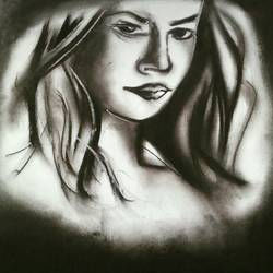 random sketches, 8 x 12 inch, sparsh patlan,drawings,portrait drawings,paintings for living room,ivory sheet,charcoal,8x12inch,GAL030717555
