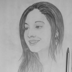 smiling girl, 8 x 12 inch, shahrukh  sareen,drawings,portrait drawings,paintings for living room,paper,graphite pencil,8x12inch,GAL030477561
