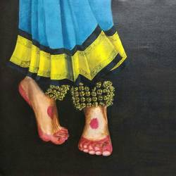 soulful steps, 20 x 16 inch, surya c g,contemporary paintings,paintings for living room,canvas,acrylic color,20x16inch,GAL030857581