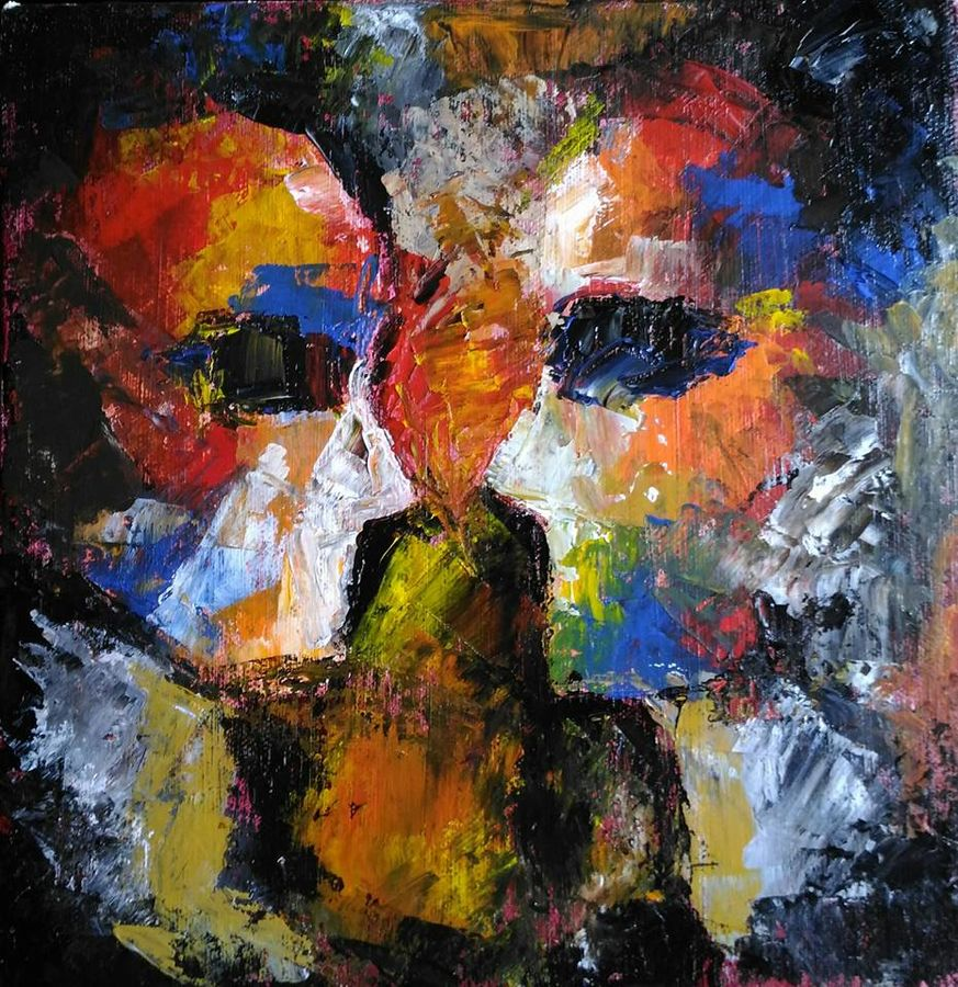 faces, 10 x 10 inch, debaditya sarkar,abstract paintings,paintings for living room,canvas,acrylic color,10x10inch,GAL0396759