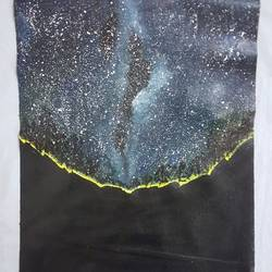 galaxy, 12 x 16 inch, retika chopra,abstract paintings,paintings for dining room,canvas,acrylic color,12x16inch,GAL030947592