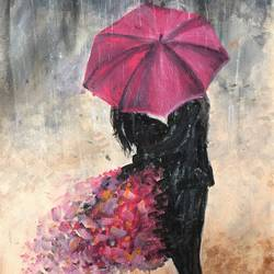 a couple in rain, 12 x 20 inch, nischitha sn,paintings for bedroom,love paintings,canvas,acrylic color,12x20inch,GAL029537600heart,family,caring,happiness,forever,happy,trust,passion,romance,sweet,kiss,love,hugs,warm,fun,kisses,joy,friendship,marriage,chocolate,husband,wife,forever,caring,couple,sweetheart
