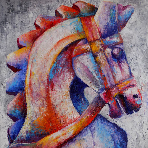 || the knight ||, 13 x 18 inch, debaditya sarkar,paintings,abstract paintings,paintings for office,canvas,acrylic color,13x18inch,GAL03967604