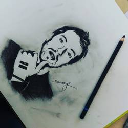 chris martin, 12 x 17 inch, mrunmayee dhumane,drawings,portrait drawings,paintings for bedroom,thick paper,charcoal,12x17inch,GAL031127606