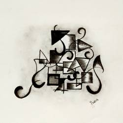 abstract charcoal , 16 x 11 inch, preksha jain,drawings,abstract drawings,paintings for office,thick paper,charcoal,16x11inch,GAL021387645