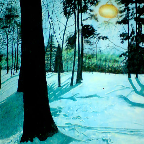 beauty of snow in forest, 21 x 29 inch, ashish lokhande,landscape paintings,paintings for living room,canvas,poster color,21x29inch,GAL031327650