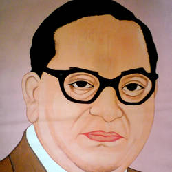 dr. babasaheb ambedkar, 21 x 29 inch, ashish lokhande,portrait paintings,paintings for living room,canvas,poster color,21x29inch,GAL031327656