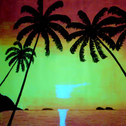 natural sun rise, 29 x 21 inch, ashish lokhande,paintings,landscape paintings,paintings for living room,canvas,poster color,29x21inch,GAL031327662