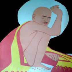 saint gajanan maharaj, 21 x 29 inch, ashish lokhande,paintings,portrait paintings,paintings for living room,canvas,poster color,21x29inch,GAL031327667