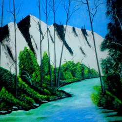 wonderful  of hills, 29 x 21 inch, ashish lokhande,paintings,landscape paintings,paintings for living room,canvas,poster color,29x21inch,GAL031327672
