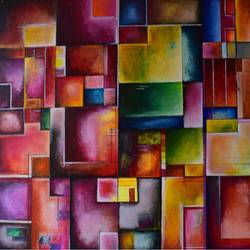 united parts, 18 x 24 inch, aatmica ojha,abstract paintings,paintings for office,paintings,canvas,acrylic color,18x24inch,GAL026897686
