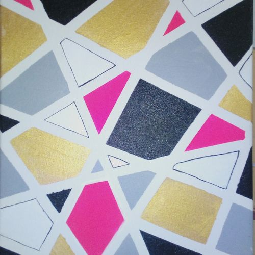 geometry, 12 x 16 inch, divya ashok kumar,paintings,abstract paintings,paintings for office,canvas,acrylic color,12x16inch,GAL031487704