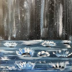 rain drop, 23 x 35 inch, smruti tn,abstract paintings,paintings for dining room,canvas,acrylic color,23x35inch,GAL031587714