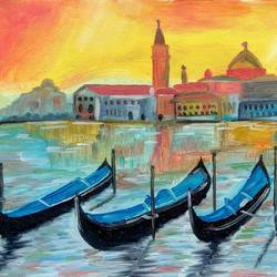 relaxing boats, 12 x 8 inch, nisha choudhary,landscape paintings,paintings for bedroom,canvas,oil,12x8inch,GAL031617722