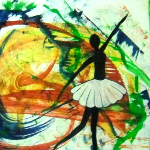 rainbow dance, 15 x 11 inch, shabnam hasan,abstract paintings,paintings for living room,thick paper,pastel color,15x11inch,GAL0302773