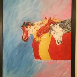 unity, 17 x 23 inch, abhimanyu duggal,conceptual paintings,paintings for dining room,canvas,oil,17x23inch,GAL030927745