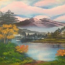 serenity , 18 x 24 inch, priti supekar ,landscape paintings,paintings for living room,vertical,canvas,acrylic color,18x24inch,GAL031787748