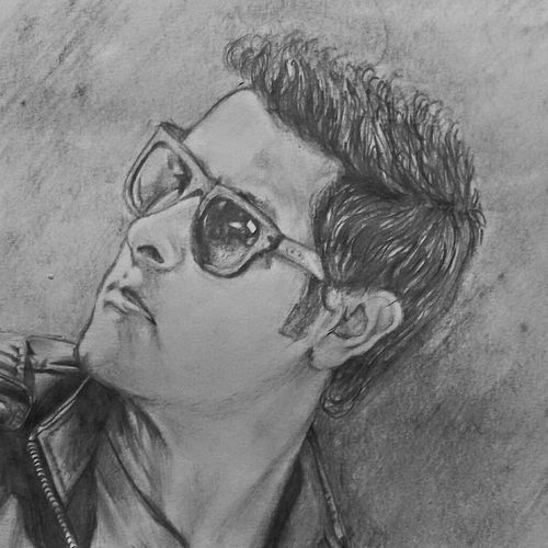vikram i movie, 8 x 12 inch, vishnu kp,drawings,portrait drawings,paintings for living room,paper,graphite pencil,8x12inch,GAL032057792