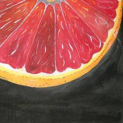 tangerine, 8 x 12 inch, afifa  ahmad ,figurative paintings,paintings for dining room,thick paper,acrylic color,8x12inch,GAL032067794