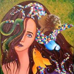 creator, 24 x 30 inch, sweta  verma,paintings for living room,figurative paintings,paintings for dining room,paintings for bedroom,paintings for office,canvas,acrylic color,24x30inch,GAL032087802